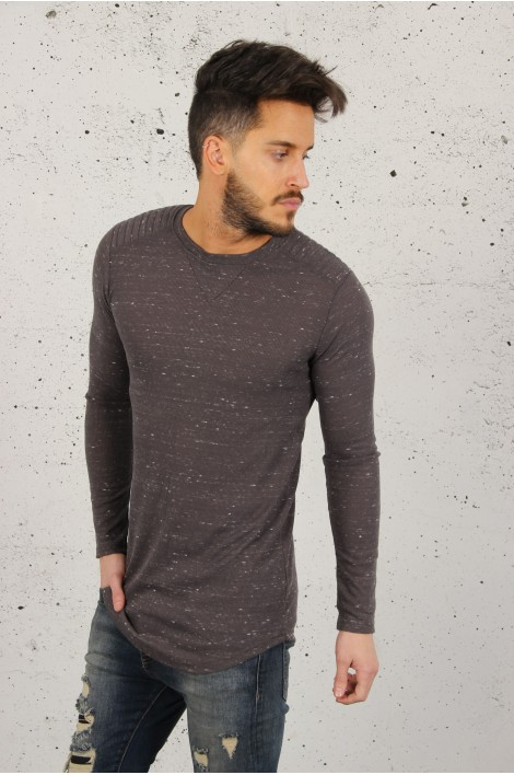 Pull fin Gris