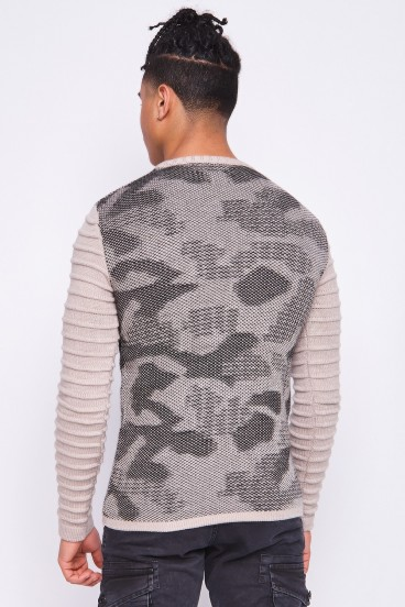 Pull camouflage beige