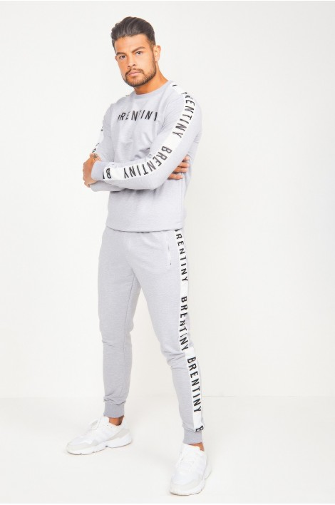 Ensemble sweat + jogging gris Brentiny
