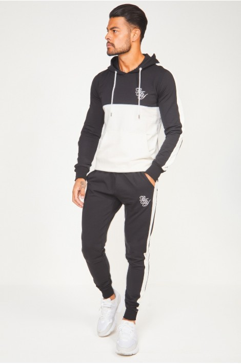 Ensemble sweat + jogging noir et blanc Brentiny