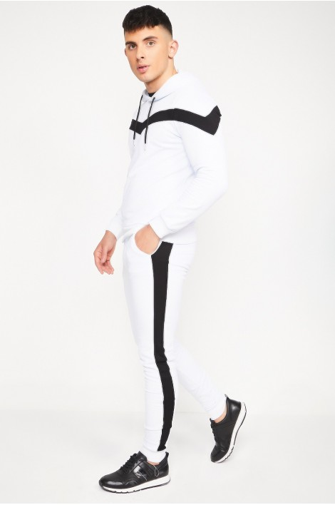Ensemble sweat + jogging blanc