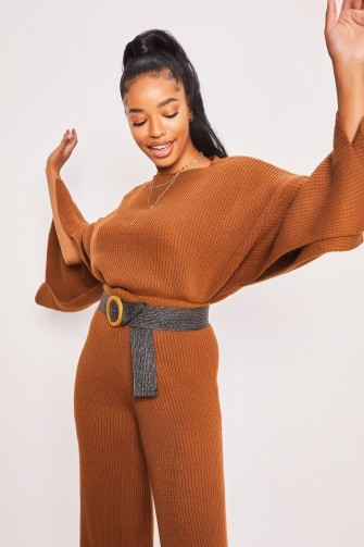 Ensemble haut + bas marron oversize