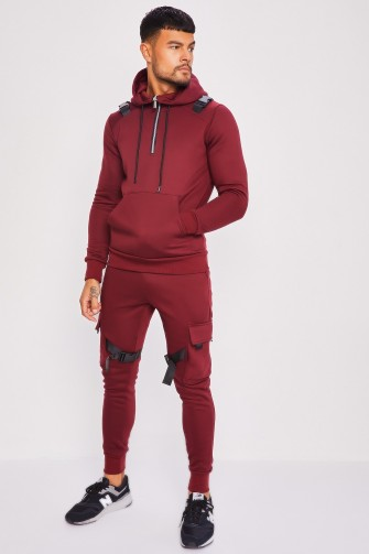 Ensemble bordeaux sweat + jogging à fermoir