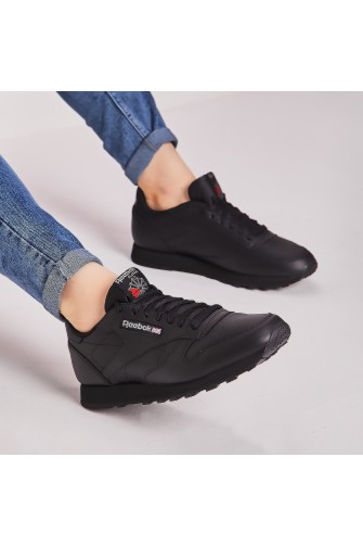 Baskets CL LTHR noires / Reebok