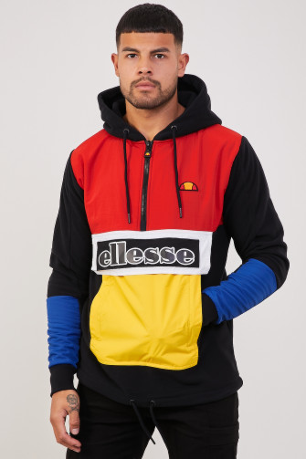 Sweat demi-zip Legno noir/rouge / Ellesse
