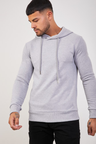 Sweat à capuche uni gris / Uniplay